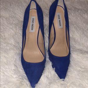 Steve Madden size 10 blue suede pumps (daisie)